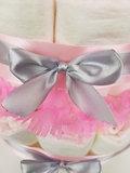 Luiertaart meisje 4-laags roze met opdruk naam_