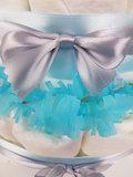 Zwitsal luiertaart 3-laags blauw met opdruk baby-naam_