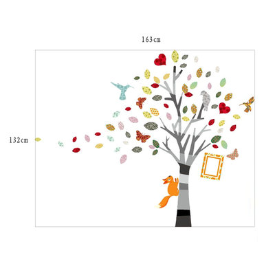 Muursticker boom met fotolijst