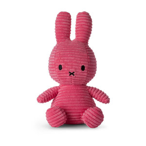 Nijntje corduroy donker roze 23 cm