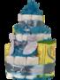 Zwitsal luiertaart 3-laags blauw