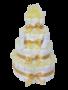 Luiertaart neutraal geel 4-laags (ideaal voor babyshower, kraam- en geboortecadeau)